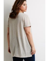 Forever 21 | Natural Slub Knit Pocket Tee | Lyst