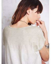 Free People | Natural We The Free Womens We The Free Thunder Moon Tee | Lyst