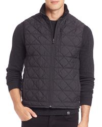 Victorinox | Black Matterhorn Quilted Vest for Men | Lyst