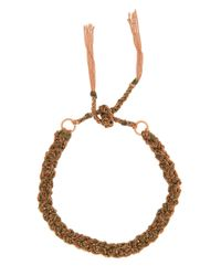 Carolina Bucci | Multicolor Braided Silk/gold Bracelet | Lyst