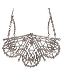 Bing Bang - Metallic Sacred Geometry Fan Necklace - Lyst