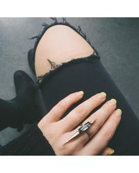 Bing Bang | Blue North South Spike Ring | Lyst
