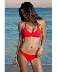 Water Glamour - Red Knotted Halter Top - Lyst