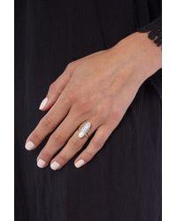 JEWEL CULT - Metallic Shia Howlite Stone Ring - Lyst