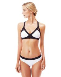 OYE Swimwear - Luna Bicolor Bikini Bottom - White & Black - Lyst