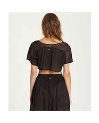 Billabong - Black See You There Sheer Crop Top - Lyst