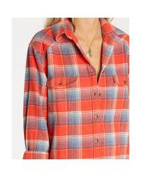 Billabong - Red Wild Adventure Plaid Flannel Shirt - Lyst