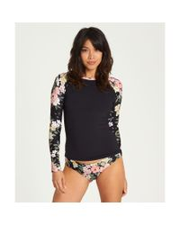 Billabong - Black Away We Go Long Sleeve Rashguard - Lyst