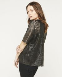 Billy Reid - Multicolor Laser Cut Top - Lyst