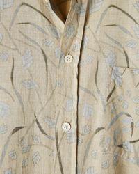 Billy Reid - Natural S/s Kirby Shirt - Lyst