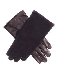 Black.co.uk | Men's Black Suede And Nappa Gloves With Silk Lining for Men | Lyst
