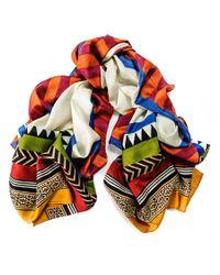 Black.co.uk | Multicolor Carmen Organic Silk Scarf | Lyst