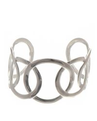 Black.co.uk | Metallic Large Link Sterling Silver Cuff | Lyst