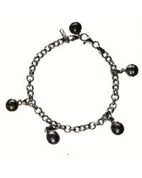 Black.co.uk - Dido Tahitian Black Pearl Charm Bracelet - Lyst