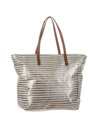 Black.co.uk - Metallic Silver And Platinum Beach Bag - Lyst