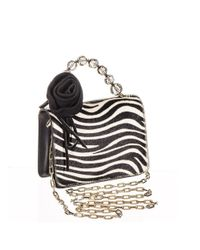 Black.co.uk - Zebra Print Calf Hair And Black Leather Mini Bag - Lyst