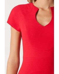 Black Halo | Red Gypsy Rose Sheath In Pebble Crepe | Lyst