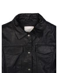 Just Female Black Cam Leather Jacket