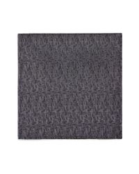 Armani | Black Micro Stitch Pocket Square for Men | Lyst