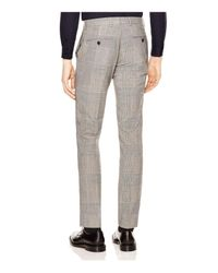 Sandro - Gray Peak Glen Check Slim Fit Trousers for Men - Lyst