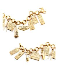 Jet Set Candy - Metallic Skis Charm - Lyst