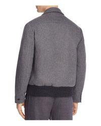 Barena - Gray Varsity Jacket for Men - Lyst