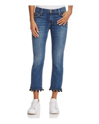 Current/Elliott | Blue The Cropped Straight Jeans In New Love | Lyst