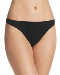Only Hearts - Black Organic Cotton Thong - Lyst