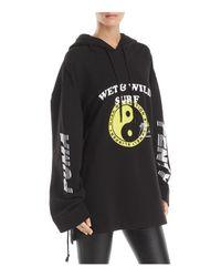 PUMA - Black Oversized Graphic Hooded Sweatshirt - Lyst