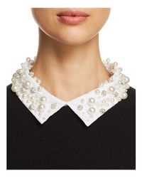 Kate Spade - Black Embellished Collar Sweater - Lyst