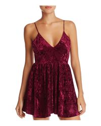 45cd7bb8c90d Lyst - Sam Edelman Velvet Romper in Purple