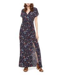 Sanctuary   Blue Coco Floral Print Maxi Dress   Lyst