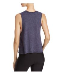 Spiritual Gangster - Blue Light In Me Cropped Tank - Lyst