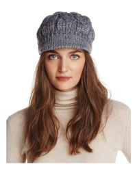 Aqua | Gray Sequin Newsboy Cap | Lyst