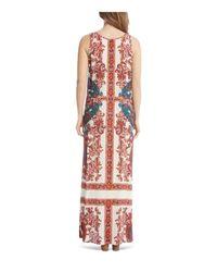 Karen Kane - Multicolor Print Side Slit Maxi Dress - Lyst