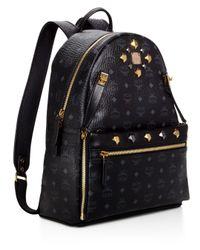 MCM - Brown Medium Dual Stark Backpack - Lyst
