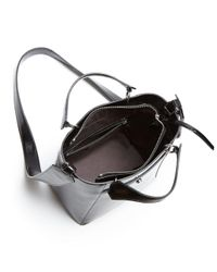 Elizabeth and James - Black Eloise Petit Patent Leather Crossbody Tote - Lyst