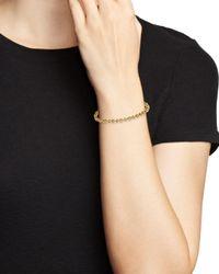 KC Designs - Metallic 14k Yellow Gold Geometric Diamond Link Bracelet - Lyst