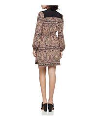 BCBGeneration - Multicolor Zen Paisley Mandarin Collar Dress - Lyst