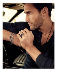 David Yurman | Chevron Link Bracelet With Black Onyx for Men | Lyst