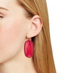 Kendra Scott - Red Signature Danielle Drop Earrings - Lyst