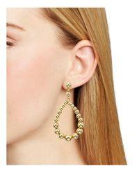 Aqua - Metallic Ball Teardrop Earrings - Lyst
