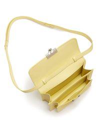 Loeffler Randall - Yellow Mini Minimal Rider Leather Crossbody - Lyst