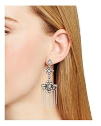 Aqua - Metallic Rosalie Statement Earrings - Lyst