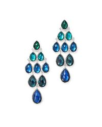 Ippolita - Blue Sterling Silver Rock Candy® Wonderland Graduated Cascade Earrings In Merino - Lyst