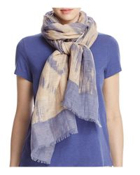 Eileen Fisher - Blue Abstract Print Scarf - Lyst