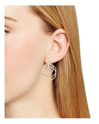 Nadri - Metallic Pavé Overlapped Doorknocker Earrings - Lyst
