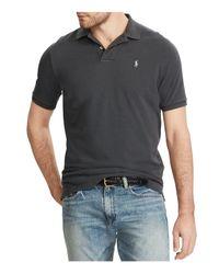 Polo Ralph Lauren | Gray Custom Slim Fit Weathered Mesh Polo Shirt for Men | Lyst