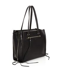 Rebecca Minkoff - Black Regan Always On Side Zip Leather Tote - Lyst