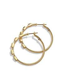 David Yurman - Metallic Confetti Hoop Earrings With Diamonds In Gold - Lyst